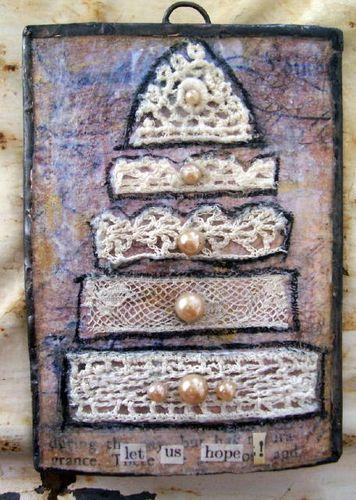Lace cake ATC -hope